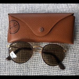 Ray Ban Leather Sunglasses
